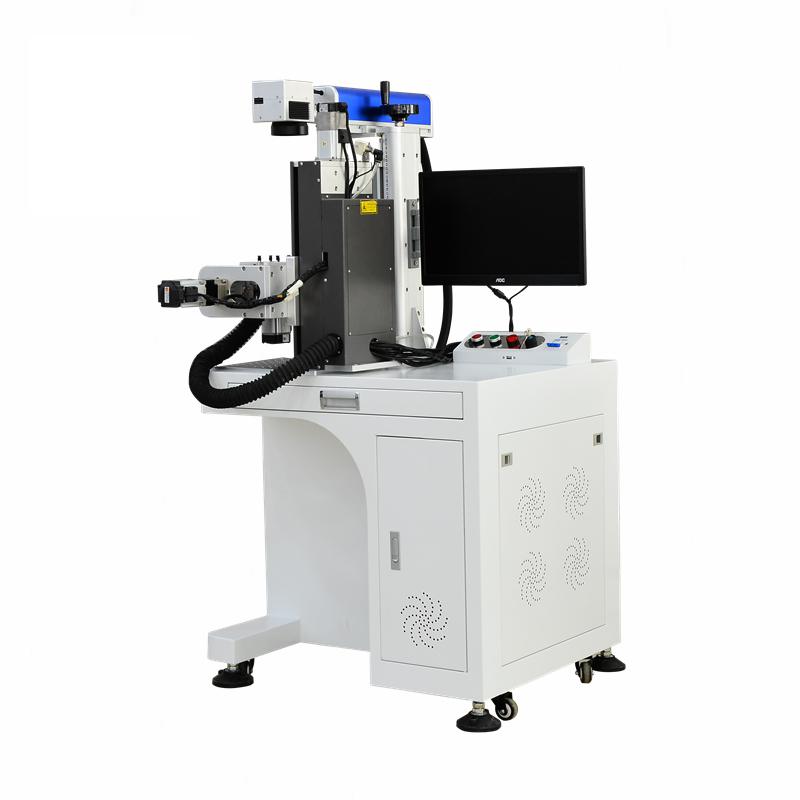 3D全自动化360度旋转激光打标机_三维曲面激光打标机